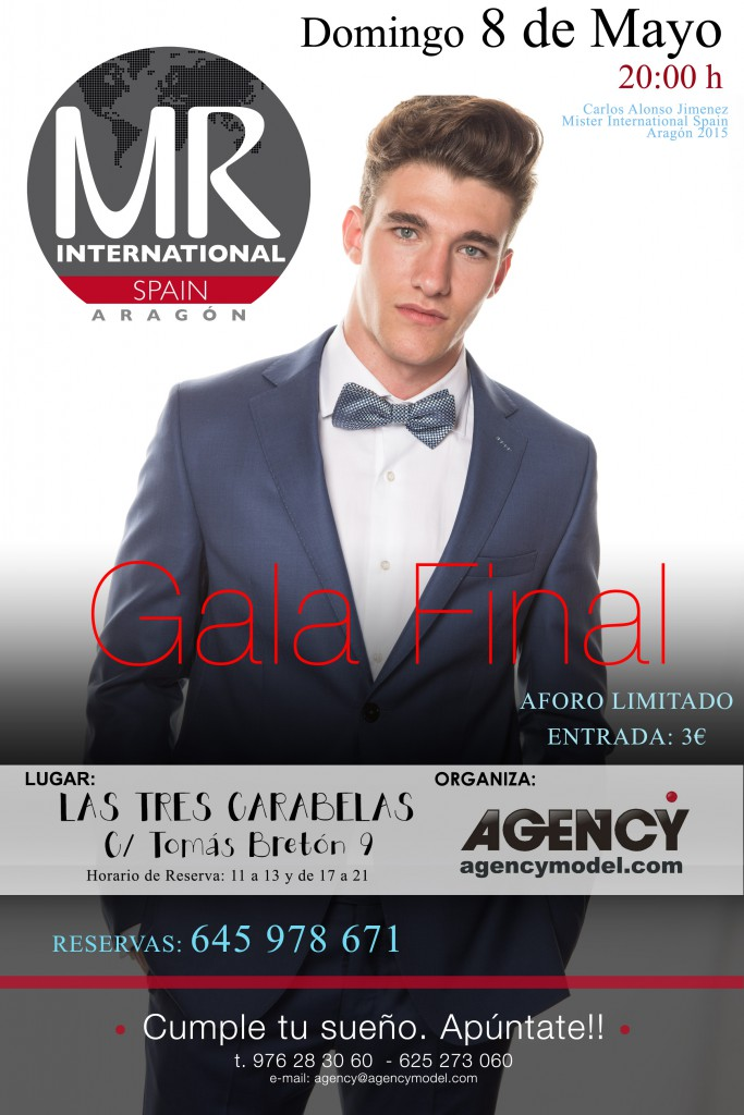 CARTEL GALA FINAL MISTER ARAGON 2016